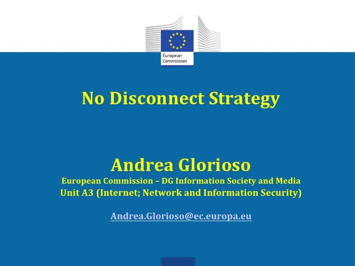 Andrea Glorioso: No Disconnect Strategy - SESERV Workshop, June 2012