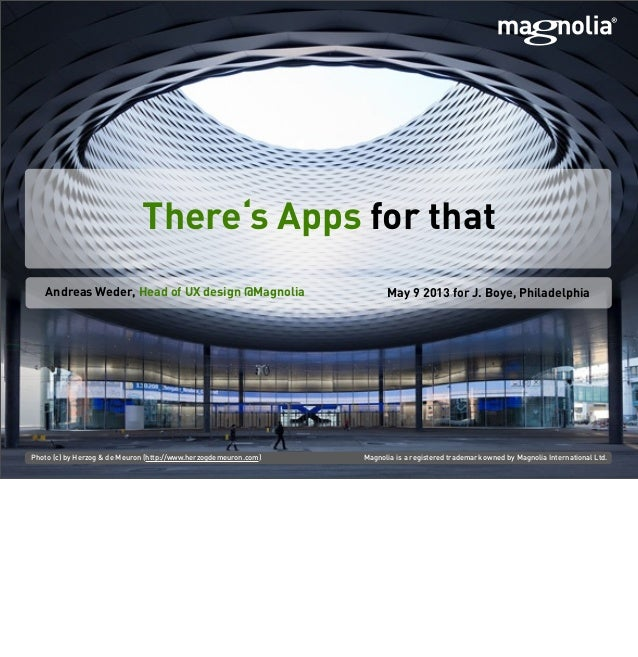 There's Apps For That - How Magnolia 5 Uses Apps