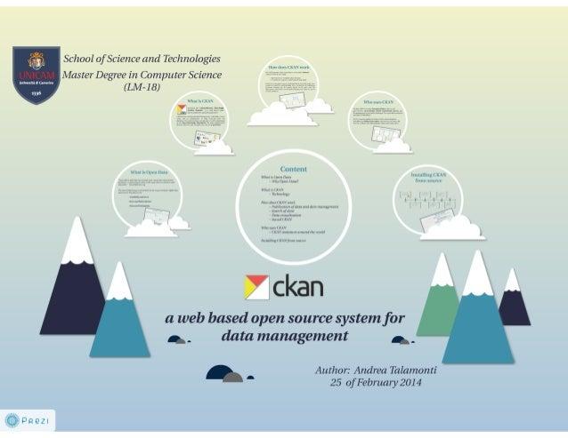 Andrea Talamonti: CKAN a tool for Open Data