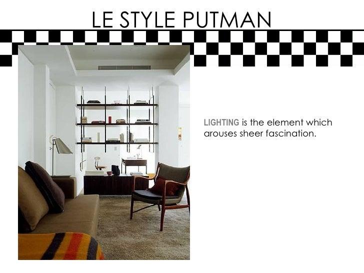 Putman Lighting le Style Putman Lighting is