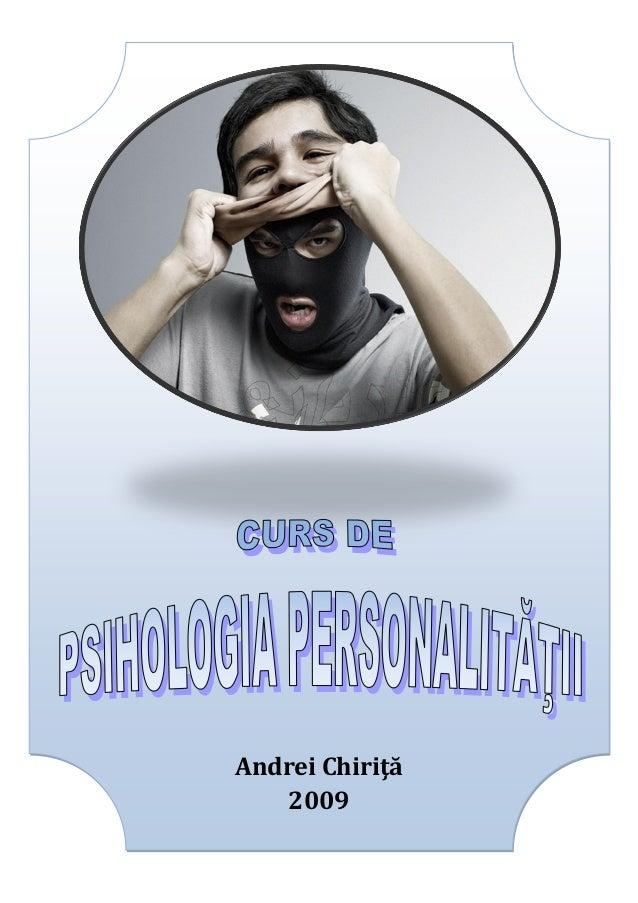 psihologia personalitatii Andrei chirita