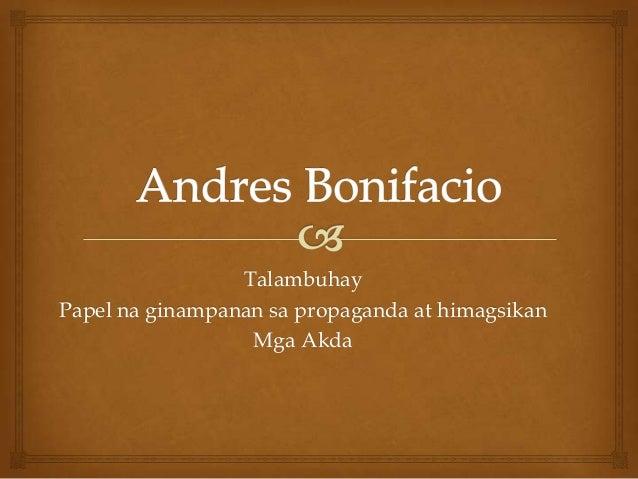 Andres bonifacio presentation