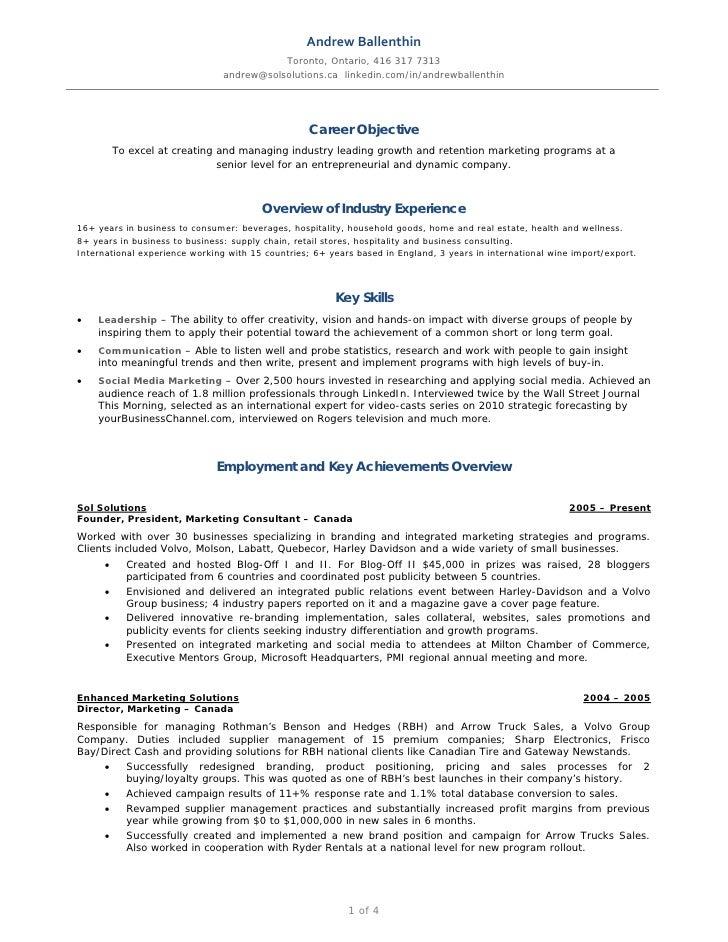 andrew ballenthin marketing social media resume