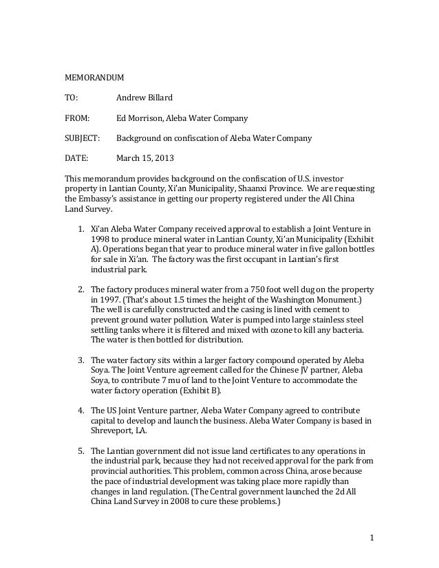 sample memo format template