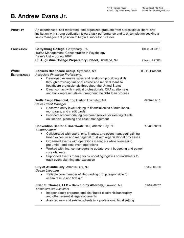 Lifeguard resume example