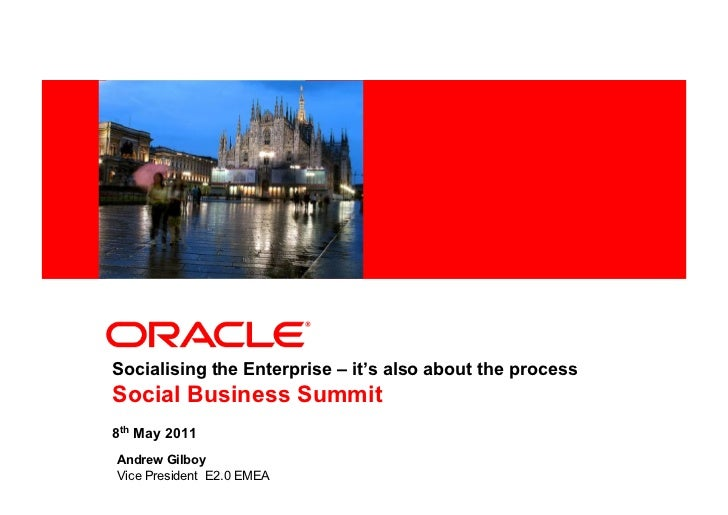Socialising the Enterprise: it's also about the process - Andrew Gilboy