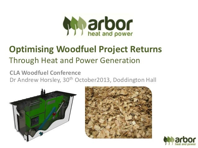 Optimising Woodfuel Project Returns through Heat and Power Generation