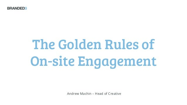 Figaro Design & Build Seminar: The Golden Rules of On-site Engagement - Andrew Machin
