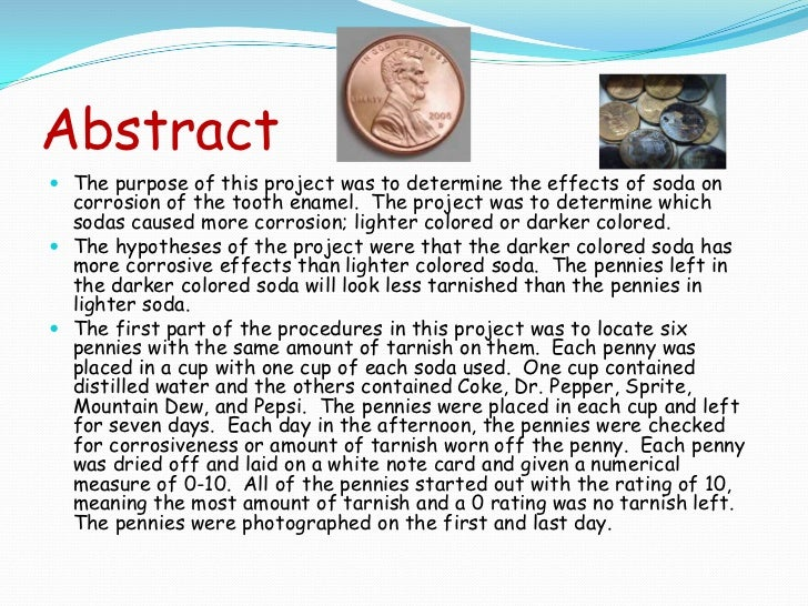 Gallery images and information abstract example science fair