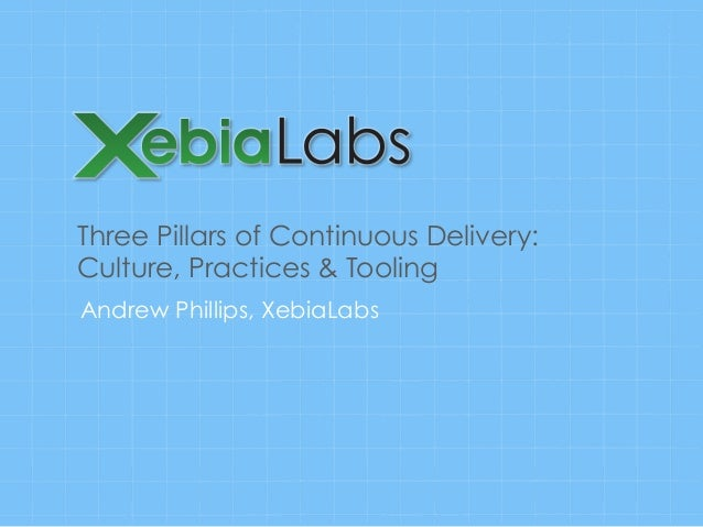 Three Pillars of Continuous Delivery: Culture, Practices & Tooling Andrew Phillips, XebiaLabs