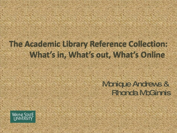 Academic Library Reference Collection