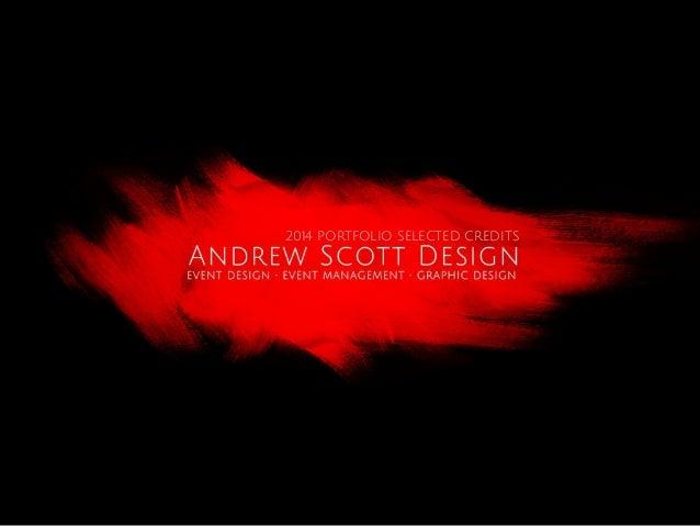 Andrew scott design (2014) portfolio