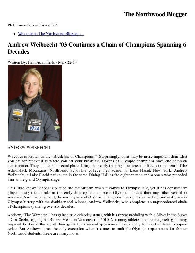 Andrew Weibrecht '03 Continues a Chain of Champions Spanning 6 Decades « the northwood blogger the northwood blogger