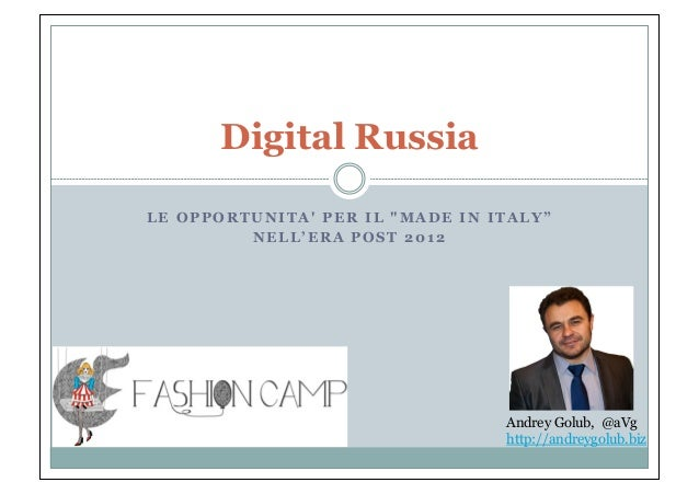 Andrey Golub - Digital Russia