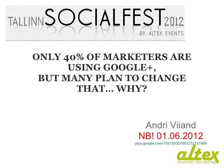 Tallinn Socialfest 2012 - Andri Viiand