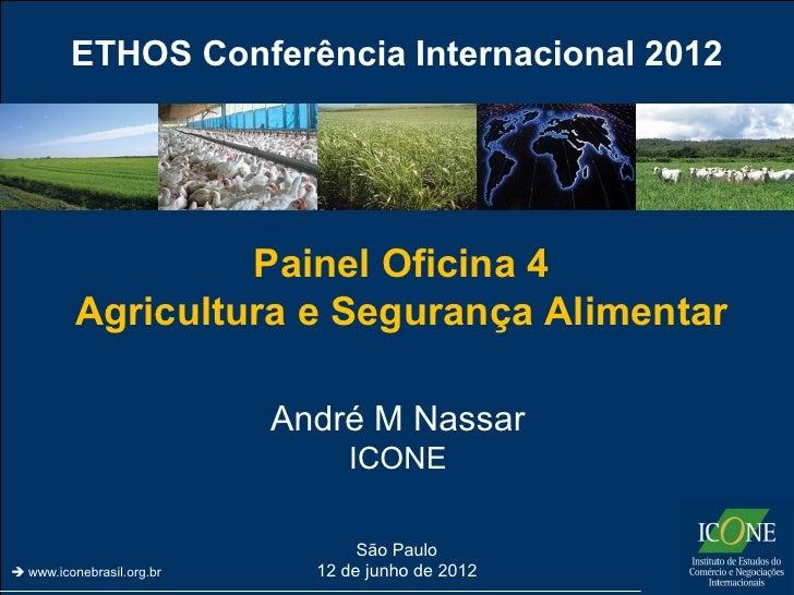 ETHOS Conferência Internacional 2012                   Painel Oficina 4          Agricultura e Segurança Alimentar        ...
