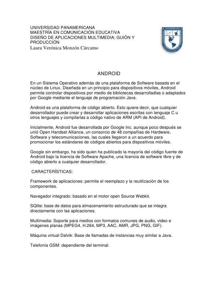 4511040-109220UNIVERSIDAD PANAMERICANA<br />MAESTRÍA EN COMUNICACIÓN EDUCATIVA  <br />DISEÑO DE APLICACIONES MULTIMEDIA; G...