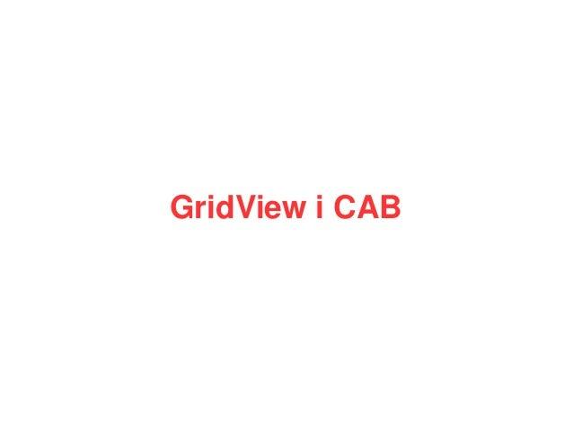 GridView i CAB