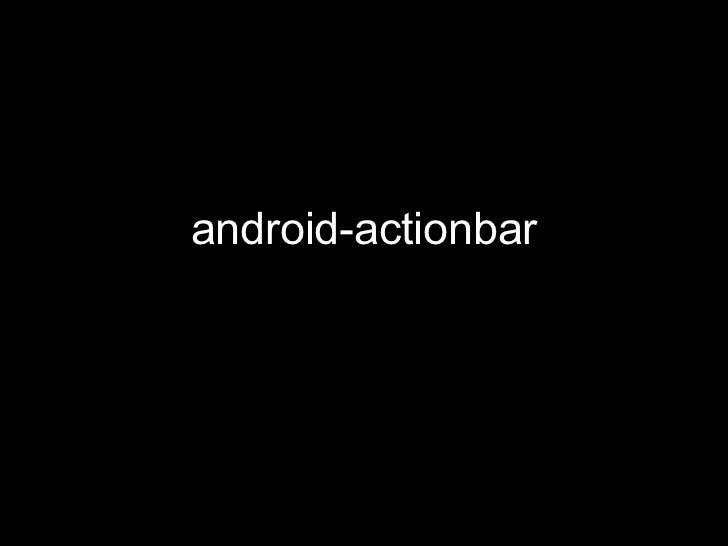 android-actionbar