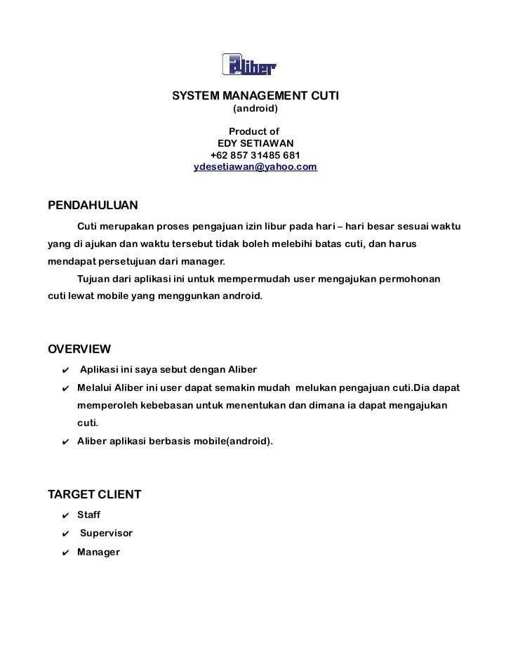 SYSTEM MANAGEMENT CUTI                                       (android)                                     Product of     ...