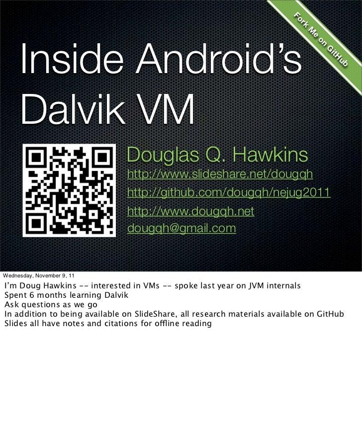 Inside Android's Dalvik VM - NEJUG Nov 2011