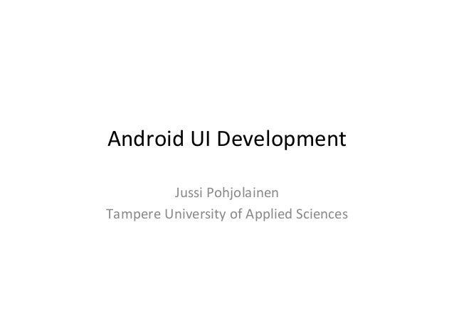 Android UI Development