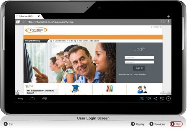 Demo of LMS Platform: Android