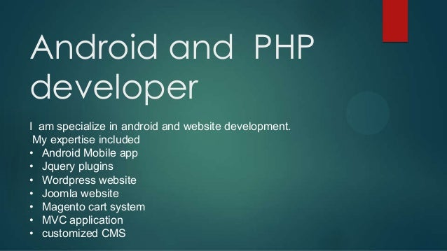 how to develop a mobile app using php
