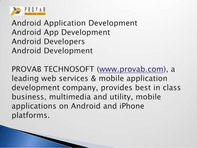 Android application development, android app development, android developers, android development