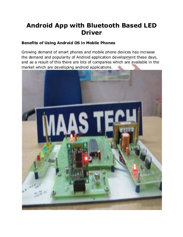 FINAL YEAR ENGINEERING PROJECTS FOR ECE-ANDROID APP USING BLUETOOTH-ROBOTCONTROL