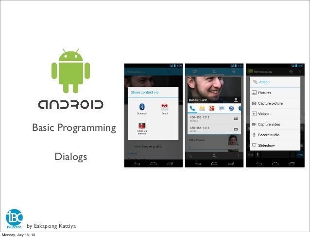 Android basic 3 Dialogs