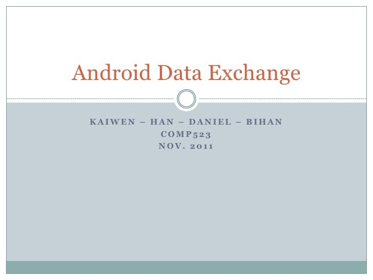 Android data exchange