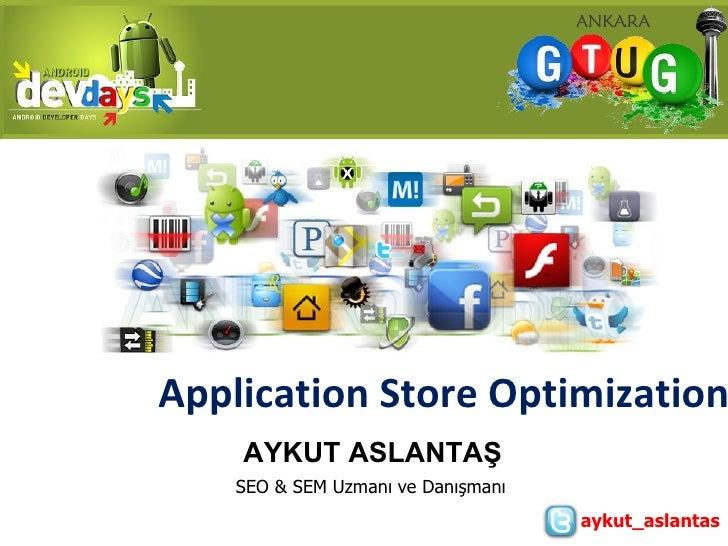 Application Store Optimization