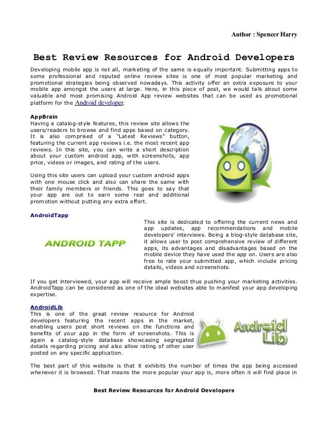 Best Review Resources for Android Developers