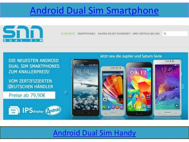 Android Dual Sim Smartphone Android Dual Sim Handy