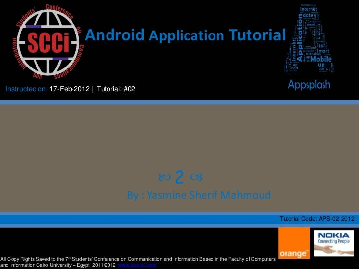 Android hello world application tutorial #1