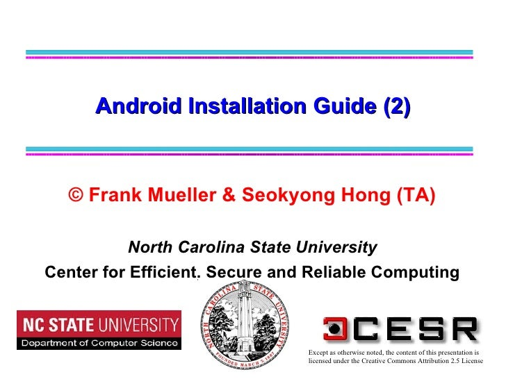 Android installation guide