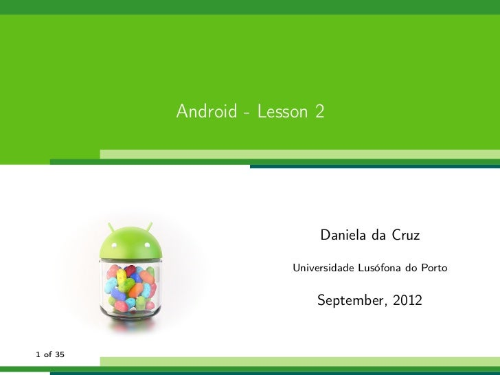 Android Lesson 2
