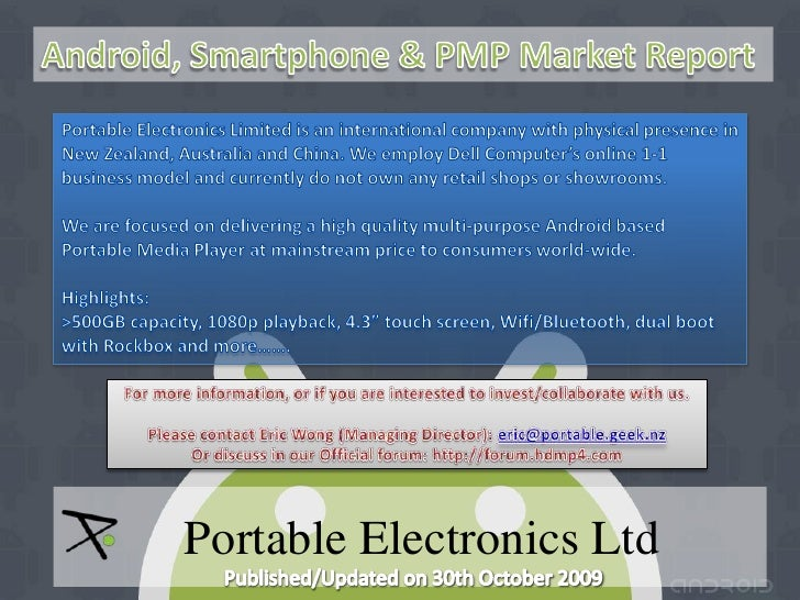 Android, Smartphone & PMP Market Report