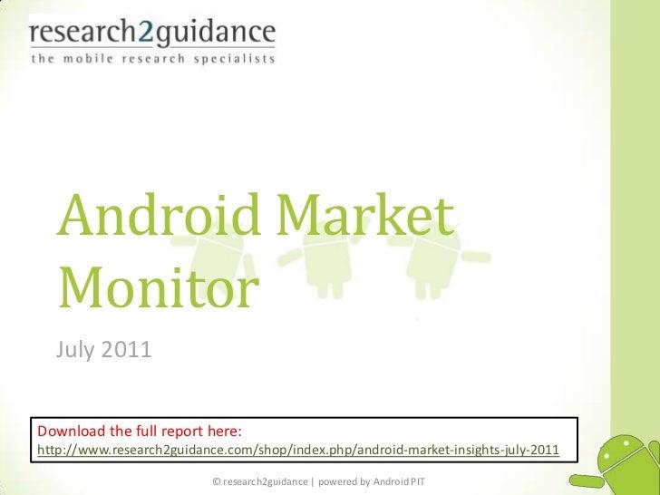 Android market  Insights Vol.4