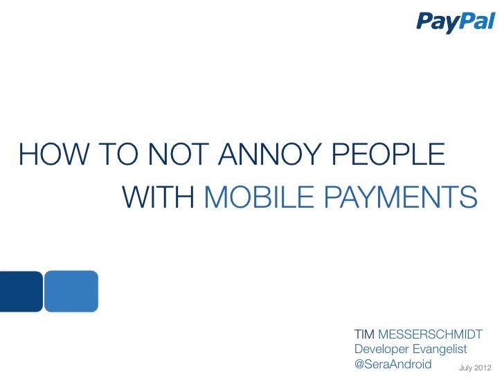Easy Mobile Payments