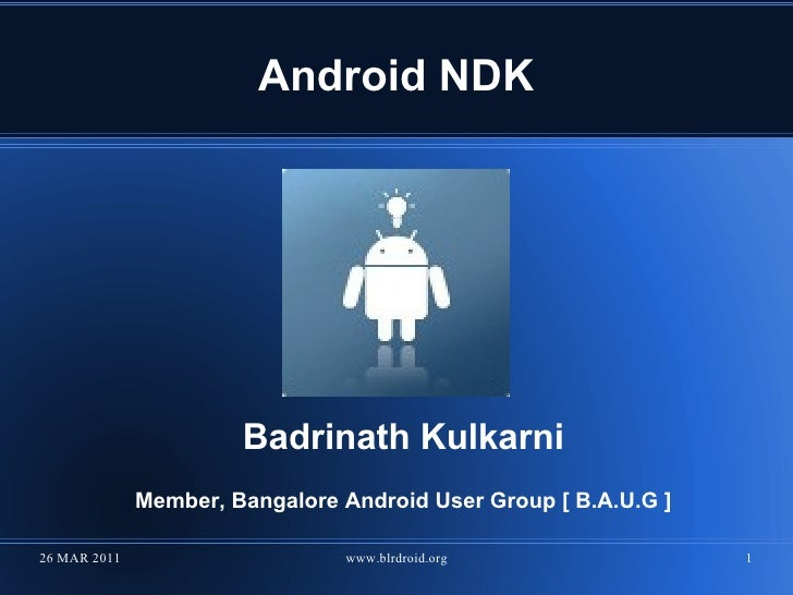 Android NDK Overview