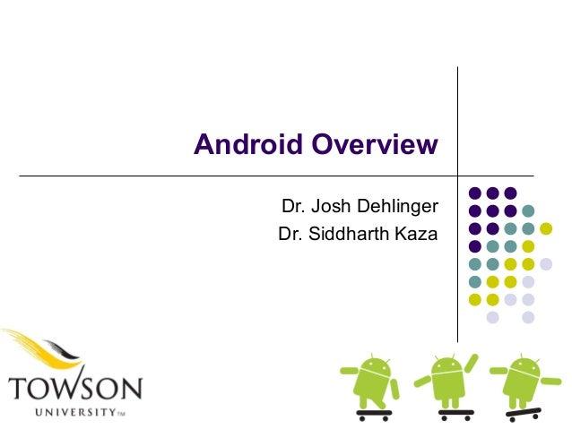 Android OverviewDr. Josh DehlingerDr. Siddharth Kaza