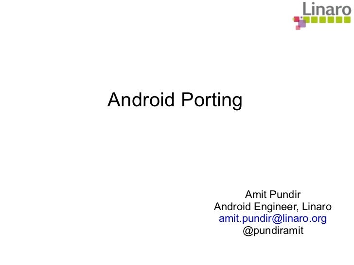 Android porting for dummies @droidconin 2011