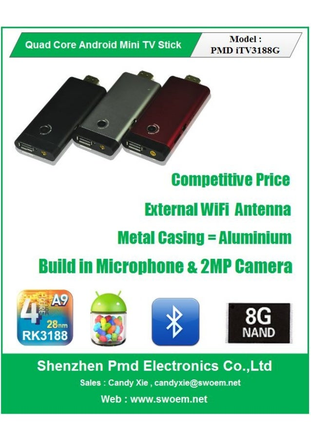 Ad Design For Shenzhen PMD Electronics - Android quad core stick