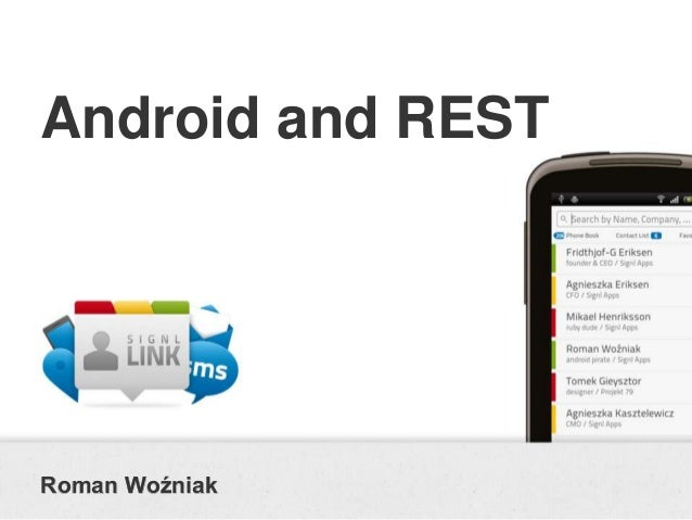 Android and RESTRoman Woźniak