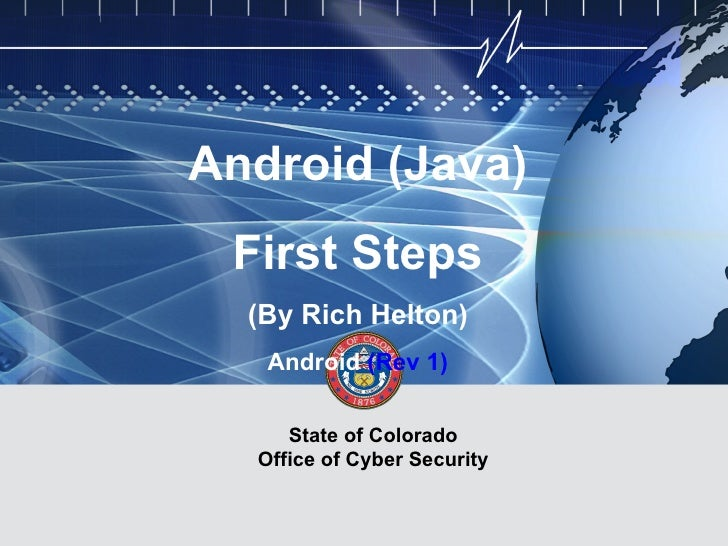 First Steps in Android