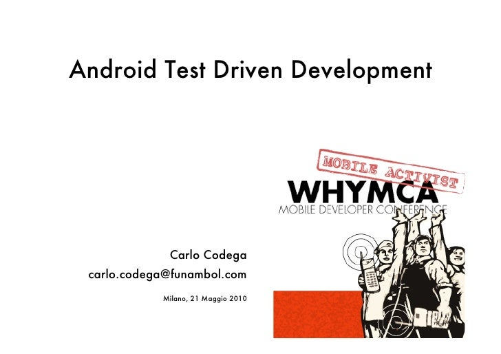 Android Test Driven Development
