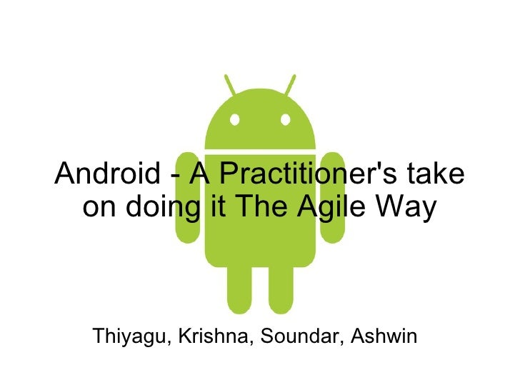 Android the Agile way