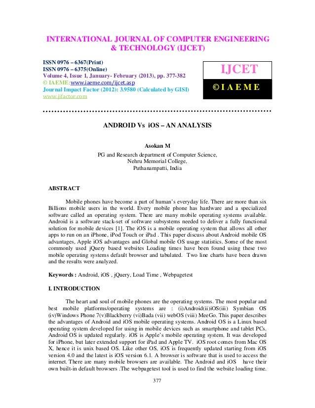 INTERNATIONALComputer VolumeOF COMPUTER ENGINEERING  International Journal of JOURNAL  6367(Print), ISSN 0976 – 6375(Onlin...